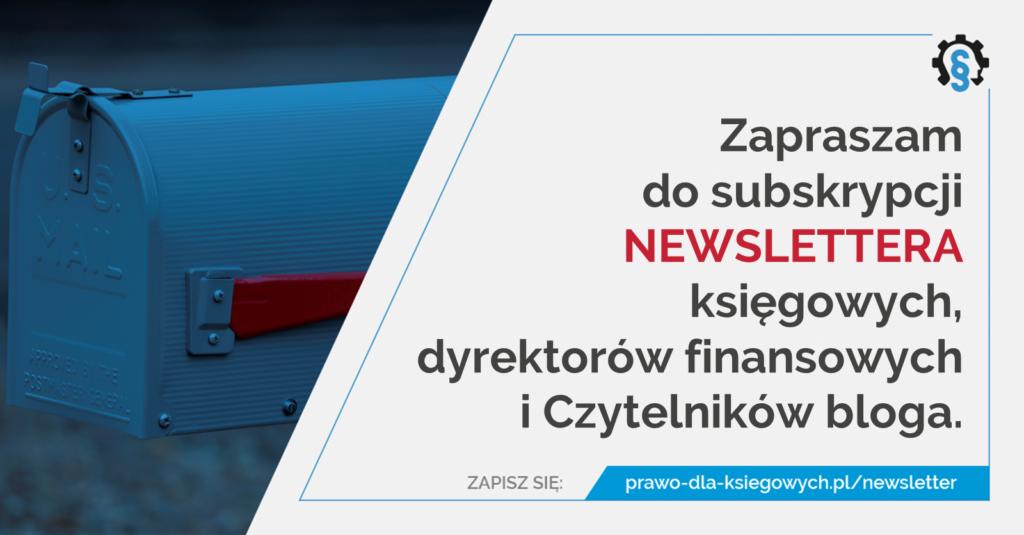 Newsletter bloga prawo-dla-ksiegowych.pl
