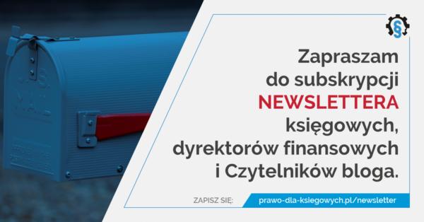 newsletter dla księgowych idyrektorów finansowych